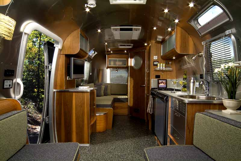 Interior Glamper An Airstream Diary Enchanting Airstream Interior Design Painting